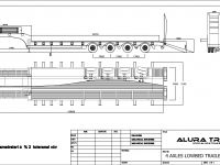 4 Axles lowbed semi trailer for sale