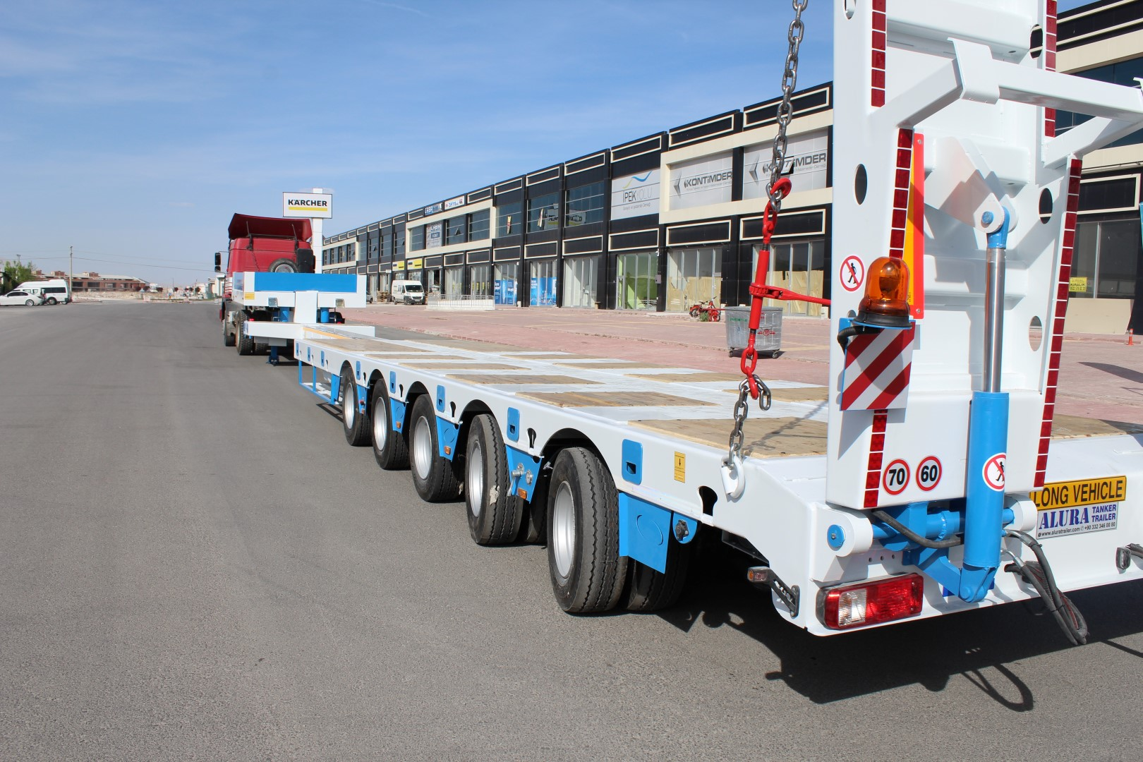 lowbed trailer at stock