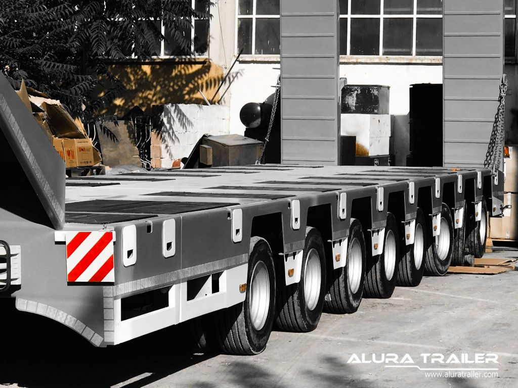 8 Axles Lowbed Trailer