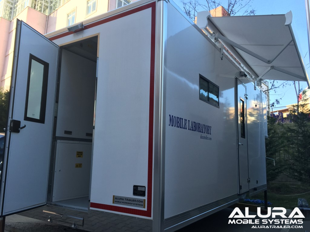 mobile lab outside