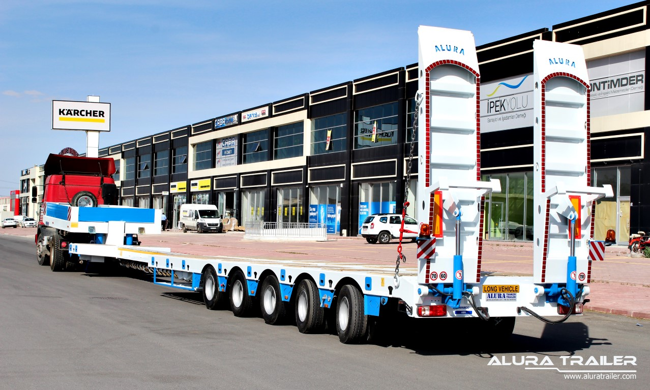5 axles low loader4