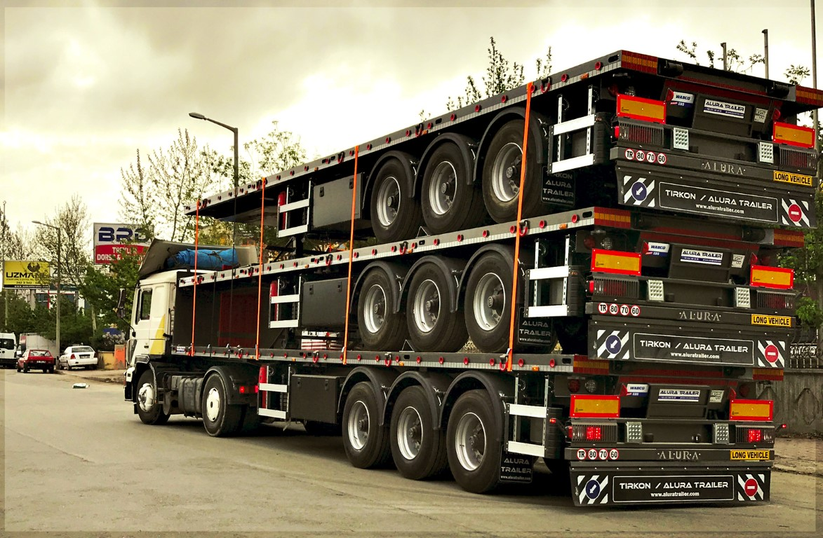 Flatbed Trailer Set Shipment